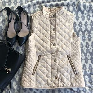 EUC⭐️ Zara Girl's Tan Quilted Vest